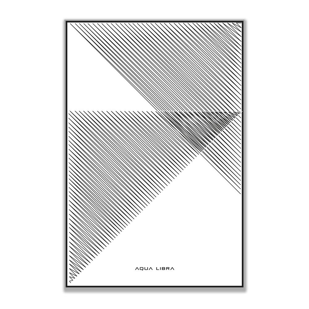Short Line 02 betreft 2 zwarte doorzichtige driehoeken op een witte achtergrond.